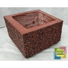 Блок бетонный столба забора 300*300*200 мм, фактура гранит