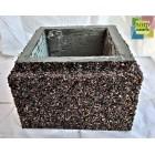 Блок бетонный столба забора 300*300*200 мм, фактура гравий цветной