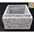 Блок бетонный столба забора 300*300*200 мм, фактура серо-черный мрамор