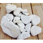 Мрамор галтованный белый 70-120 мм, 50 кг