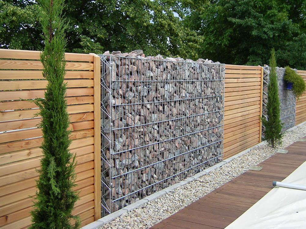 Камни для габиона забор